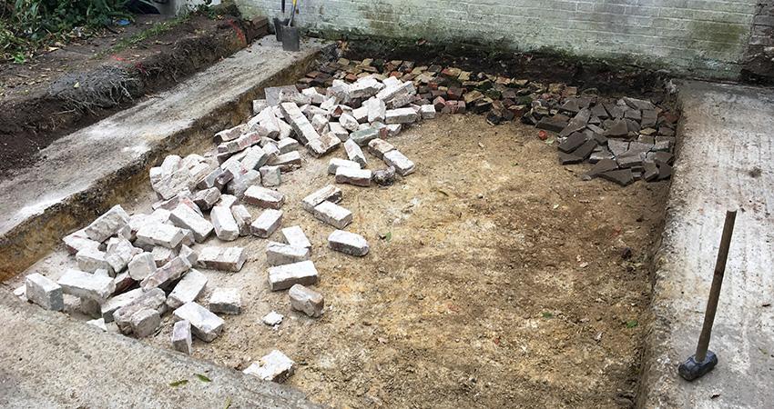 Heatherwode Footings Concreted Oversite Prepared