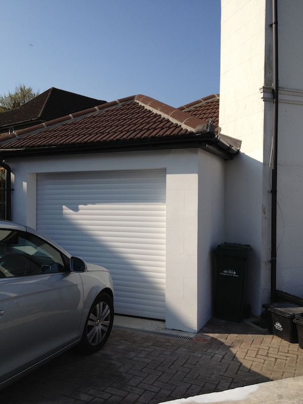 Garage And Patio Landscaping